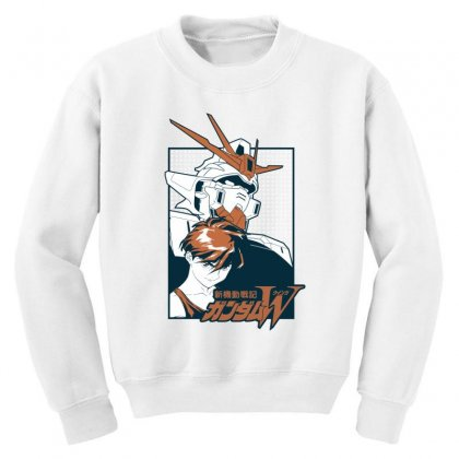 Gundam Wing Youth Sweatshirt Designed By Paísdelasmáquinas
