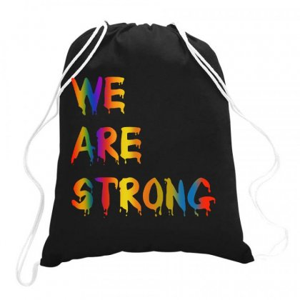 We Are Strong Drawstring Bags Designed By Joe Art