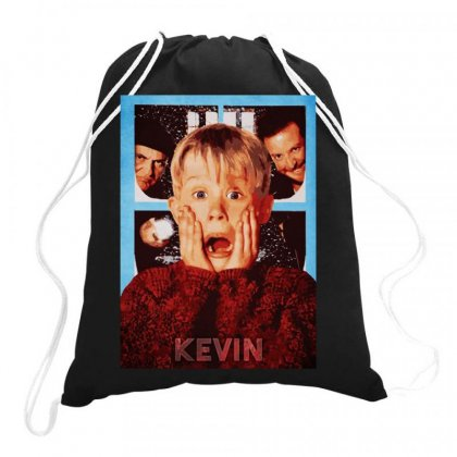 Home Alone Drawstring Bags Designed By Joe Art