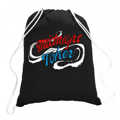 Midnight Toker Drawstring Bags Designed By Joe Art