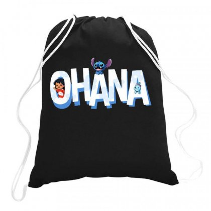 Ohana Drawstring Bags Designed By Joe Art