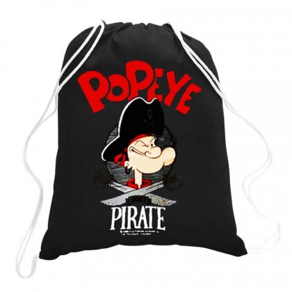Popeye Goes Pirate Drawstring Bags Designed By Joe Art