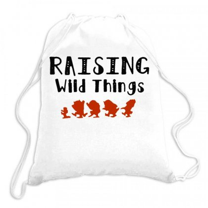 Raising Wild Things Hot Drawstring Bags Designed By Joe Art