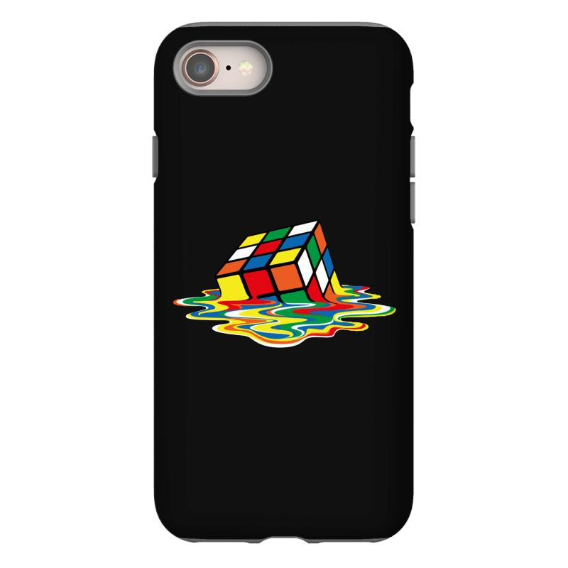 Sheldon Cooper   Melting Rubik's Cube Iphone 8 Case | Artistshot