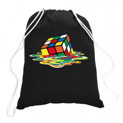 Sheldon Cooper   Melting Rubik's Cube Drawstring Bags Designed By Joe Art