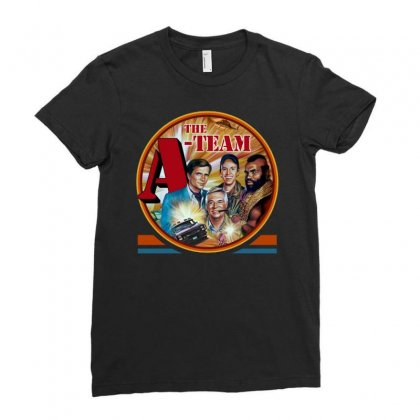 The A Team Ladies Fitted T-shirt Designed By Joe Art
