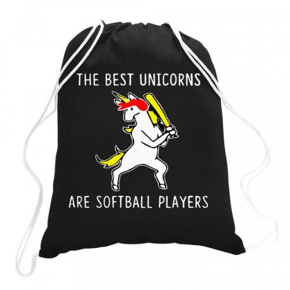 The Best Unicorns Are Softball Player Drawstring Bags Designed By Joe Art