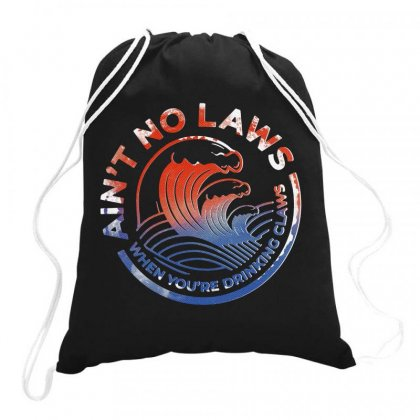 Trevor Wallace White Claw Drawstring Bags Designed By Joe Art