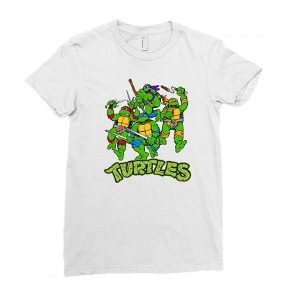 Ninja Turtles Ladies Fitted T-shirt Designed By Salmanaz