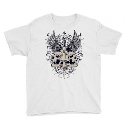 Sword And Skull Youth Tee Designed By Salmanaz