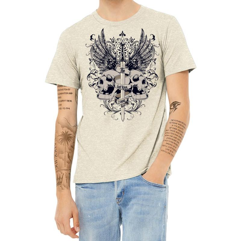 Sword And Skull Heather T-shirt | Artistshot