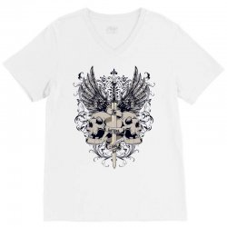 sword and skull V-Neck Tee | Artistshot