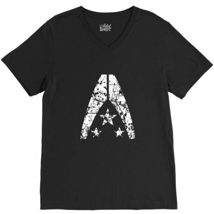 Alliance Grunge V-neck Tee Designed By Sr88