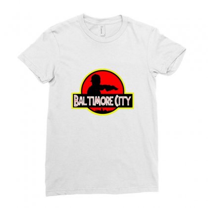 Baltimore City Ladies Fitted T-shirt Designed By Sr88