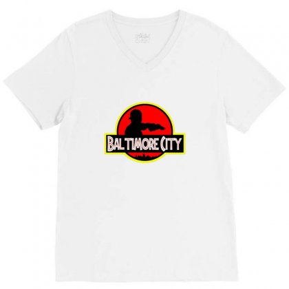 Baltimore City V-neck Tee Designed By Sr88
