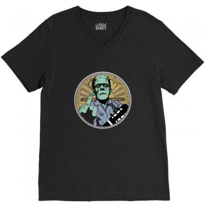 Cash Monster V-neck Tee Designed By Sr88