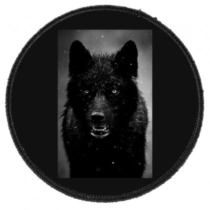 Enraged Wolf Round Patch Designed By Ec