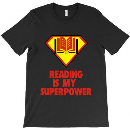 Reading Is My Superpower T-shirt Designed By Helloshop
