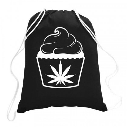 Marijuana Cup Cake Drawstring Bags Designed By Bon T-shirt