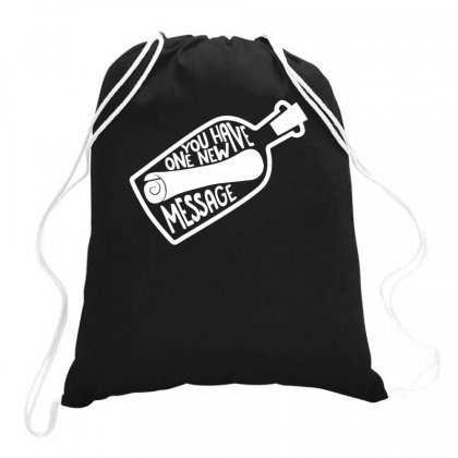 Message In A Bottle Drawstring Bags Designed By Bon T-shirt