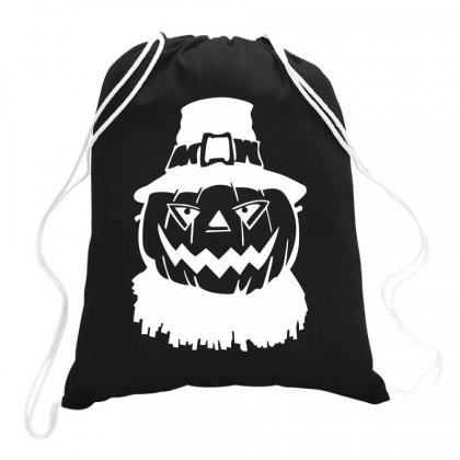 Pumpkin Face Halloween Drawstring Bags Designed By Bon T-shirt