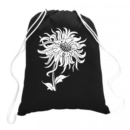 Sunflower Funny Drawstring Bags Designed By Bon T-shirt