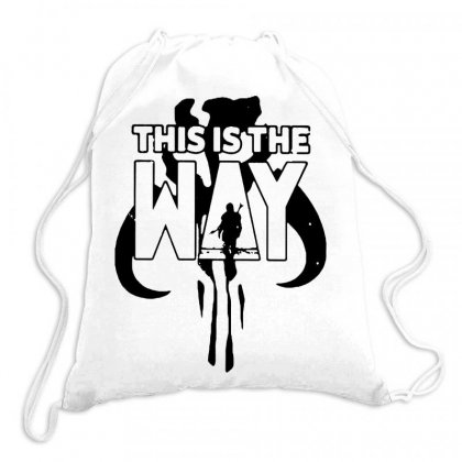 This Is The Way B Mandalorian On Black Art Drawstring Bags Designed By Joo Joo Designs