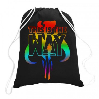 This Is The Way B Mandalorian Drawstring Bags Designed By Joo Joo Designs