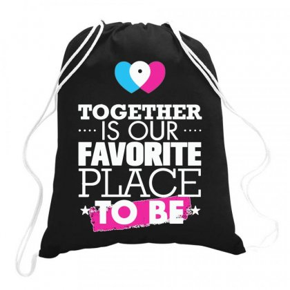 Together Is Our Favorite Place To Be Drawstring Bags Designed By Joo Joo Designs