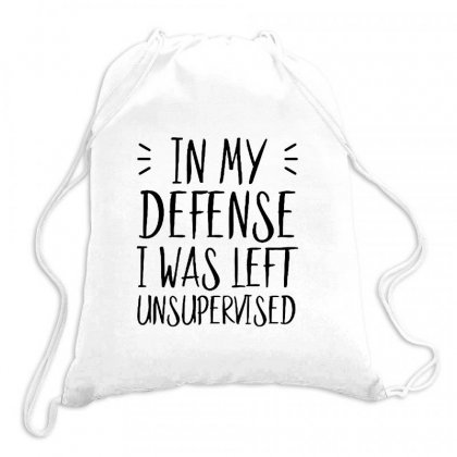 In My Defense Quotes Drawstring Bags Designed By Tanjung Bayu