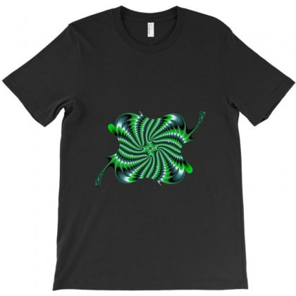Square Spiral Fractal T-shirt Designed By Zykkwolf