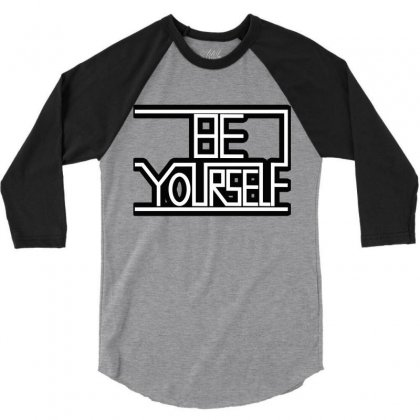 Be Yourself 3/4 Sleeve Shirt Designed By Sf Project Design