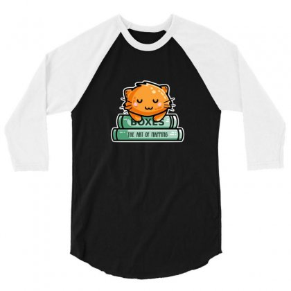Cute Ginger Cat And Books 3/4 Sleeve Shirt Designed By Sr88