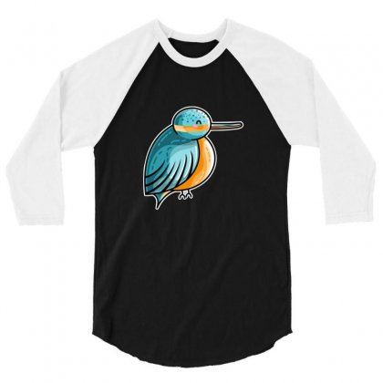 Cute Kingfisher 3/4 Sleeve Shirt Designed By Sr88