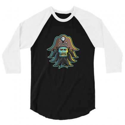 Pirate Lechuck 3/4 Sleeve Shirt Designed By Sr88