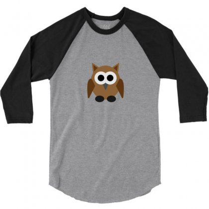 Owl 3/4 Sleeve Shirt Designed By Redhil
