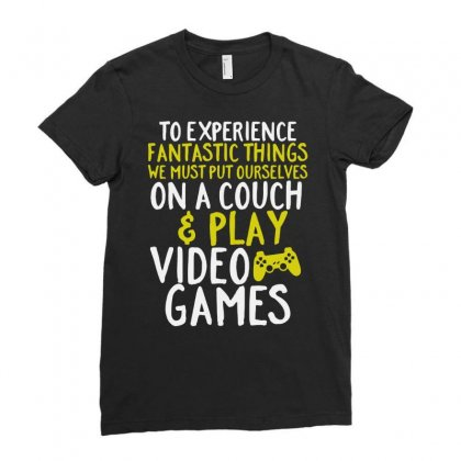 Video Games Geek And Gamer Ladies Fitted T-shirt Designed By Joo Joo Designs