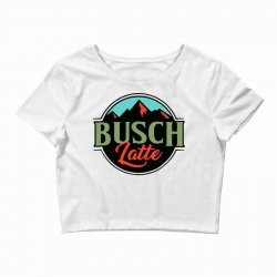 vintage busch light busch latte Crop Top | Artistshot