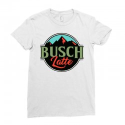 vintage busch light busch latte Ladies Fitted T-Shirt | Artistshot