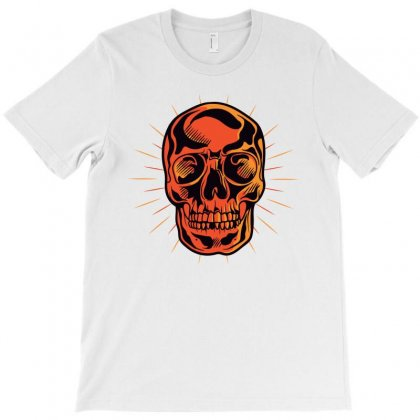 Orange Yellow Skull T-shirt Designed By Designsbymallika