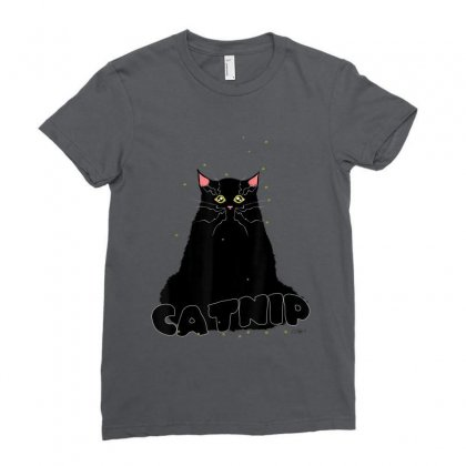 Cat Lover Catnip Crazy Ladies Fitted T-shirt Designed By Mrt90