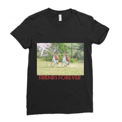 Friends Forever Ladies Fitted T-shirt Designed By Bijender