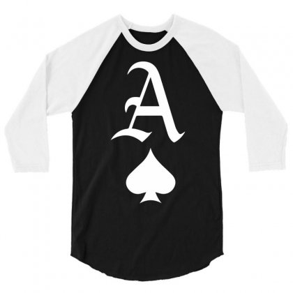 Ace Of Spades 3/4 Sleeve Shirt Designed By Ronandi