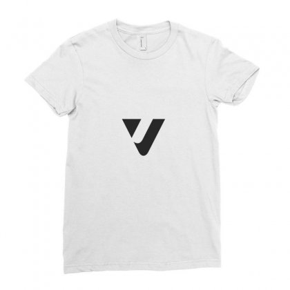 Capital Letter V Monogram Ladies Fitted T-shirt Designed By Alamy