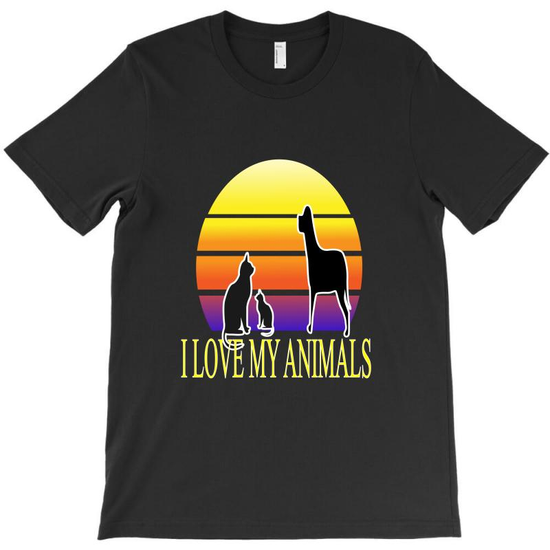 Animals Cat And Dog T-shirt | Artistshot