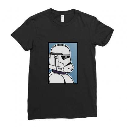 Blank Clone Trooper Ladies Fitted T-shirt Designed By Sr88
