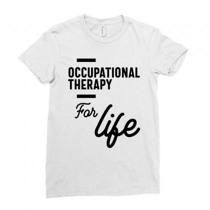 Occupational Therapy Work Job Title Gift Ladies Fitted T-shirt Designed By Cidolopez