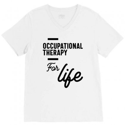 Occupational Therapy Work Job Title Gift V-neck Tee Designed By Cidolopez