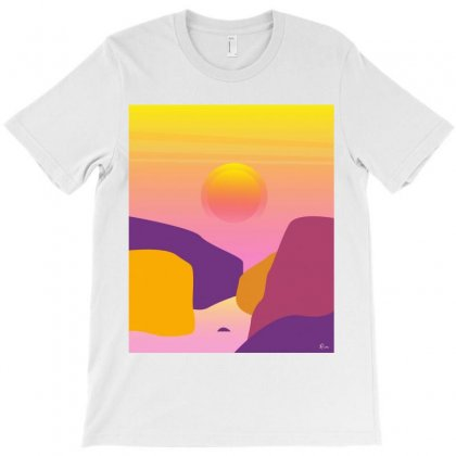 Sunset T-shirt Designed By Hottees_by_ria