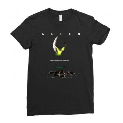 Alien Movie Egg Poster Ladies Fitted T-shirt Designed By Ronandi